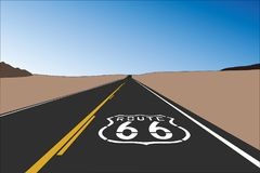 Route 66 Pavement Sign Vector Stock Photos