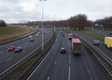 A16 route, Pays-Bas Photos stock
