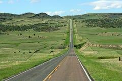 Route 191, paysage au Montana Photos libres de droits