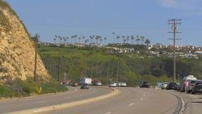 Route PCH de Côte Pacifique chez Malibu - MALIBU, Etats-Unis - 29 MARS 2019 clips vidéos