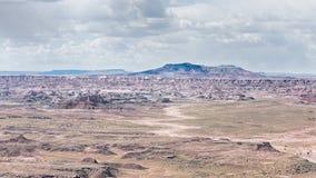 Route 66: Pintadopunt, Chinde Mesa, Geschilderde Versteende Woestijn, Stock Afbeeldingen