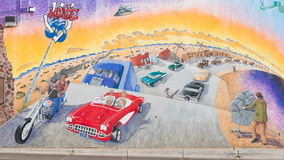 Route 66: Pintura mural da estrada da mãe, Albuquerque, nanômetro fotos de stock