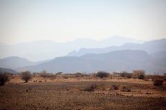 Route pittoresque dans la région de Tigray photos stock