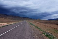 route pluvieuse marocaine Image libre de droits