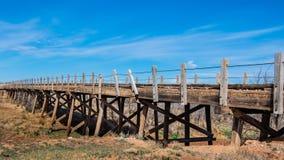 Route 66: Ponte di legno, Endee, nanometro immagini stock libere da diritti