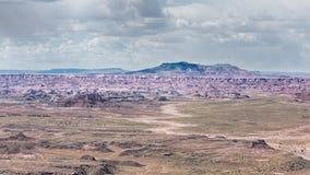 Route 66: Ponto de Pintado, deserto pintado, Forest Nation petrificado Imagens de Stock