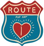 Route Pop Art Sign Design - vector illustration Royalty Free Stock Photos