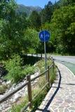 Route pour la bicyclette Photos libres de droits