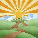 Route pour star le métier de papier et l'arc-en-ciel réutilisés Photo libre de droits