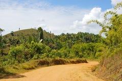 Route poussiéreuse de safari images stock
