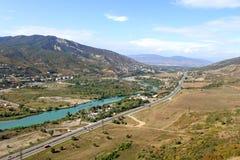 Route près de Mtskheta, la Géorgie Photo libre de droits