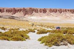Route près de Salar le Tara, Chili Image libre de droits