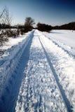 Route profonde de neige Photo stock