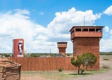 Route 66: Puesto de operaciones del valor del fuerte, Houck, AZ Imagen de archivo
