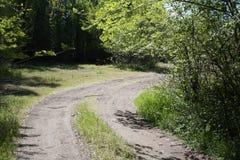 Route qui mène à la maison Image libre de droits