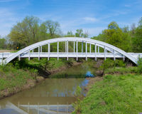 Route 66: Rainbow Arch Bridge, Riverton, KS Stock Photo