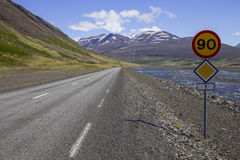 Route 1 or the Ring Road in Iceland Royalty Free Stock Photo