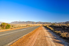 Route 62 road near Oudtshoorn - The Karoo, South Africa Stock Photography