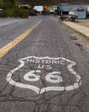 Route 66: Road shield, Oatman, AZ Stock Image