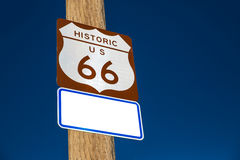 Route 66 road sign in Arizona USA Stock Photos