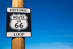 Route 66 road sign in Arizona USA Royalty Free Stock Photos
