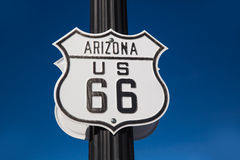 Route 66 road sign in Arizona USA Royalty Free Stock Photography