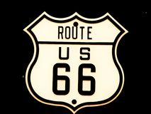 Route66 road sign stock photography