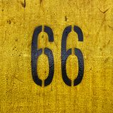 Route 66 road sign highway travel historic Stock Photos