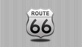 Route 66 Road Sign. Royalty Free Stock Photo