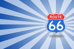 Route 66 Road Sign. Royalty Free Stock Photography