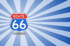 Route 66 Road Sign. Stock Photos