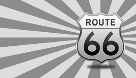 Route 66 Road Sign. Royalty Free Stock Images