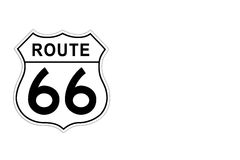 Route 66 Road Sign. Stock Image