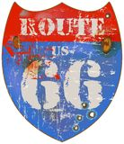 Route 66 road sign Royalty Free Stock Photos