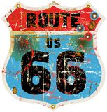Route 66 road sign Stock Photos