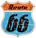Route 66 road sign Stock Image
