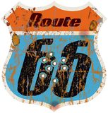 Route 66 road sign Stock Photography
