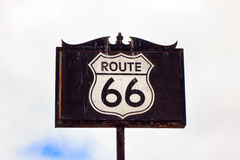 Route 66 Road Sign Royalty Free Stock Photography