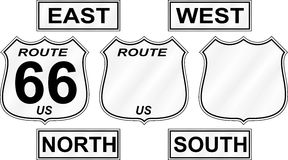 Route Road Signs Royalty Free Stock Image
