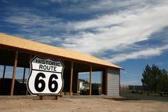 Route 66 Roadsign, USA Arkivfoto