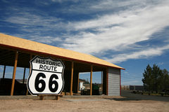 Route 66 Roadsign, USA Stock Photo