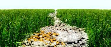 Route rocheuse Photos libres de droits