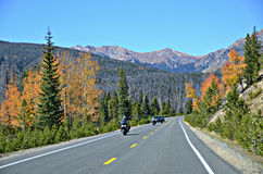 Route 34, Rocky Mountain National Park Photographie stock