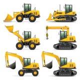 Route Rollermechanism de matériel de construction Photographie stock