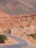 Route rouge - Argentine - quebrada de las Conchas de La Photos libres de droits