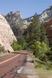 Route rouge dans Zion Photographie stock
