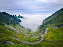 Route Roumanie de Transfagarasan photo stock