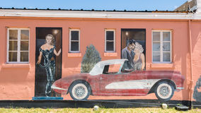 Route 66: Route 66 mural depicts Clark Gable, Carol Lombard, and Stock Photo