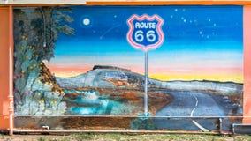 Route 66: Route 66 väggmålning, Tucumcari, NM Royaltyfri Fotografi