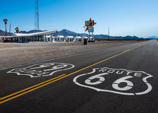 Route 66: Roy's Motel and Cafe, Amboy, CA Stock Image
